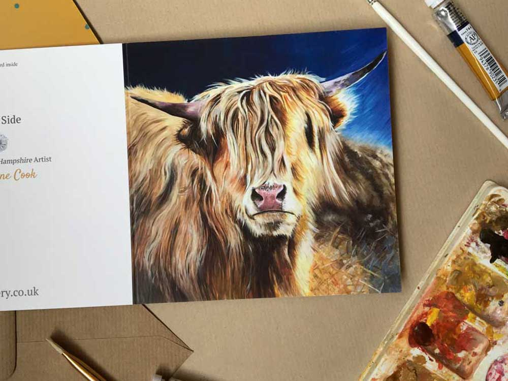 Highland Cow by Etsy