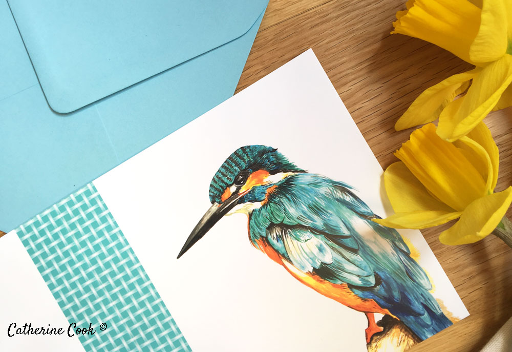 Kingfisher greeting card on Etsy